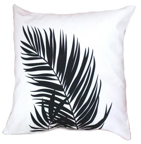 Digital Printed Leaf Design Cushion Cover