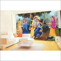 Lord Krishna Swing Wall Covering