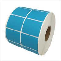 Blue Barcode Label