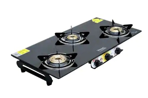 3 BURNER DIAMOND BLACK
