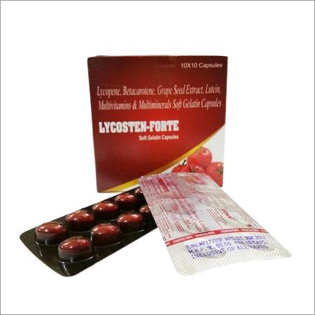 Lycopene Betacarotene Grapeseed Extract Lutein Multivitamin Capsules