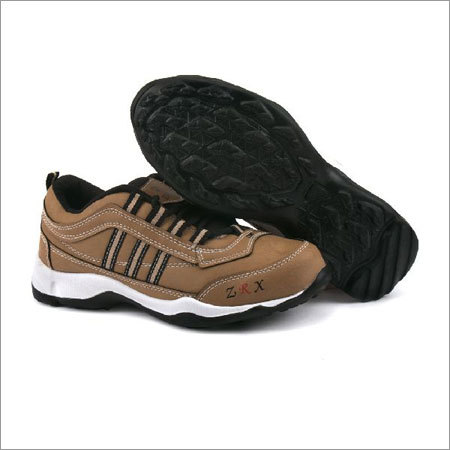 Kids Tan Black Shoes