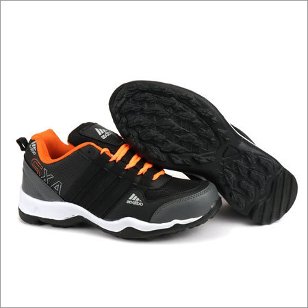 Black & Orange Fylon Sole Sport Shoes