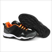 Black & Orange Fylon Sole Sport Shoes