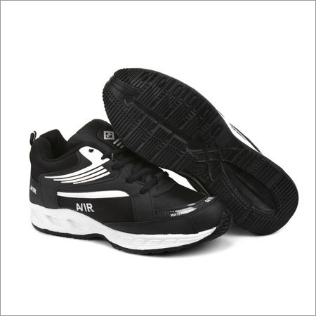 Full Black Fylon Sole Sports Shoes