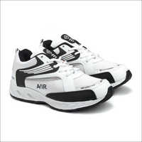 White & Black Fylon Sole Sports Shoes