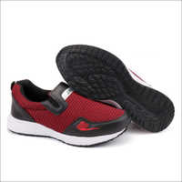 Red and Black Fylon Sole Sports Shoes