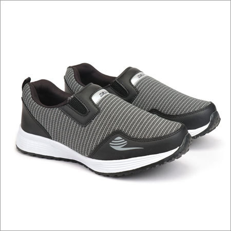 Grey & Black Fylon Sole Sports Shoes