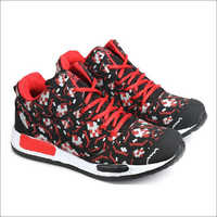 Red & Black Fylon Sole Sports Shoes