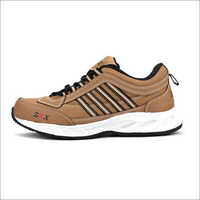 Tan Black Fylon Sole Sports Shoes