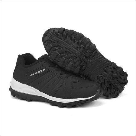 Black Fylon Sole Sports Shoes