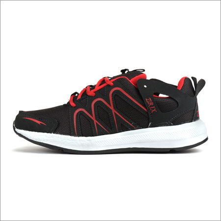 Black & Red Fylon Sole Sports Shoes