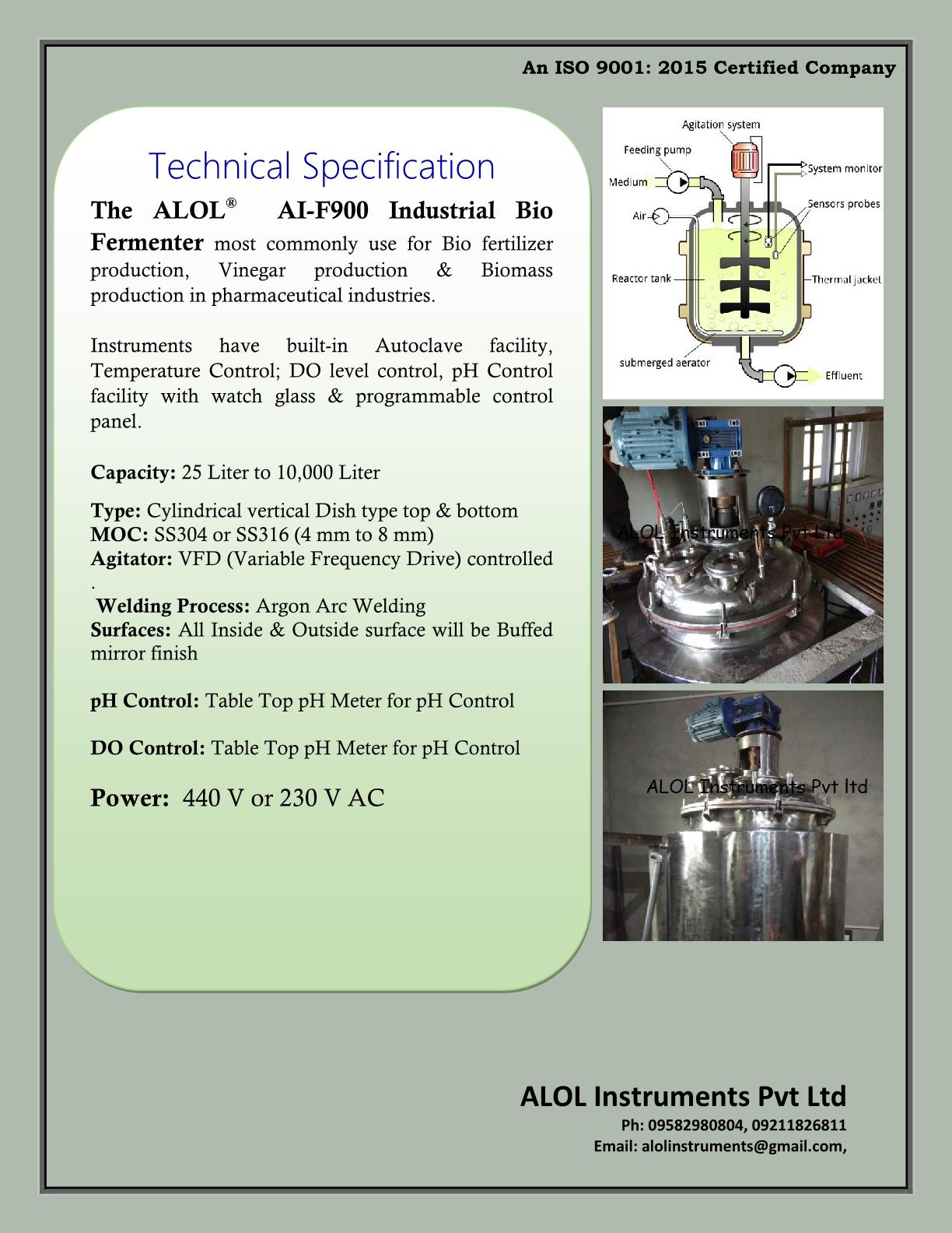 Bio Fermenter Manufacturer and Supplier in Delhi