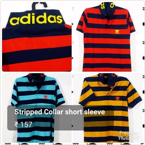 Blue Mens Striped T Shirts