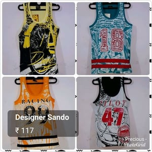 Mens Graphic Print Sando