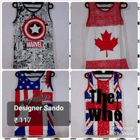 Mens Cotton Printed Sando