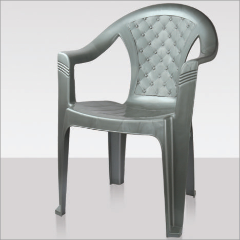 Plastic Mid Back Arm Rest Chair