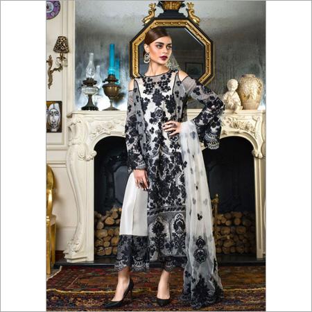 Pakistani Faux Georgette Mono Net Dress
