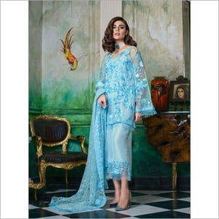 Ladies Chiffon Embroidered Dress
