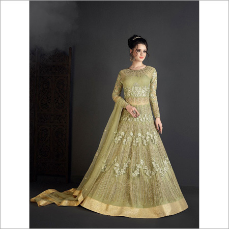 Stylish Embroidered Gown Net