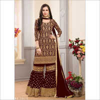 Ladies Faux Georgette Sharara Suit