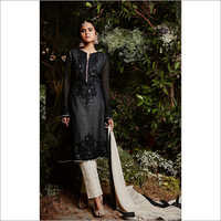 Ladies Faux Georgette Embroidery Suit