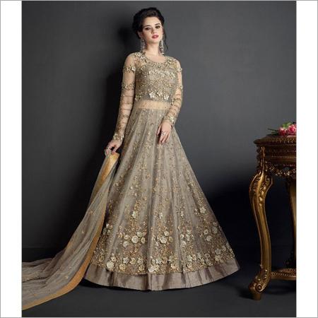 Ladies Designer Gown Style Suit