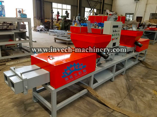 Compressed Shavings Wood Pallet Feet Block Machine