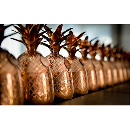 Copper Plated Pineapple Tumbler