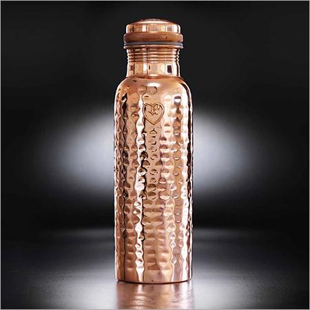 Copper Water Bottle Hammered