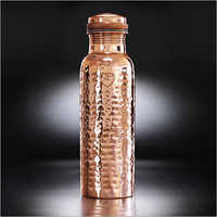 Copper Water Bottle Hammered