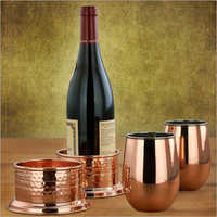 Copper-Stemless-Wine-Glasses