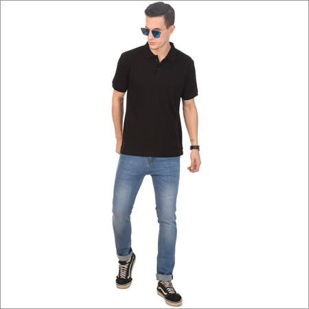 Mens Casual Wear Polo Neck T Shirt
