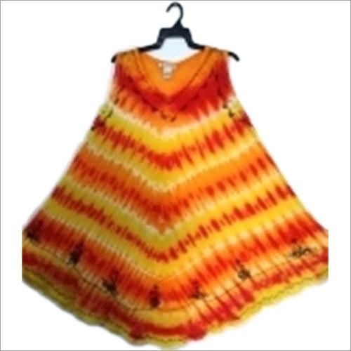 Ladies Printed Rayon Umbrella Dress