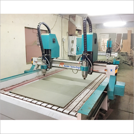 High Speed CNC Double Head Stone Router