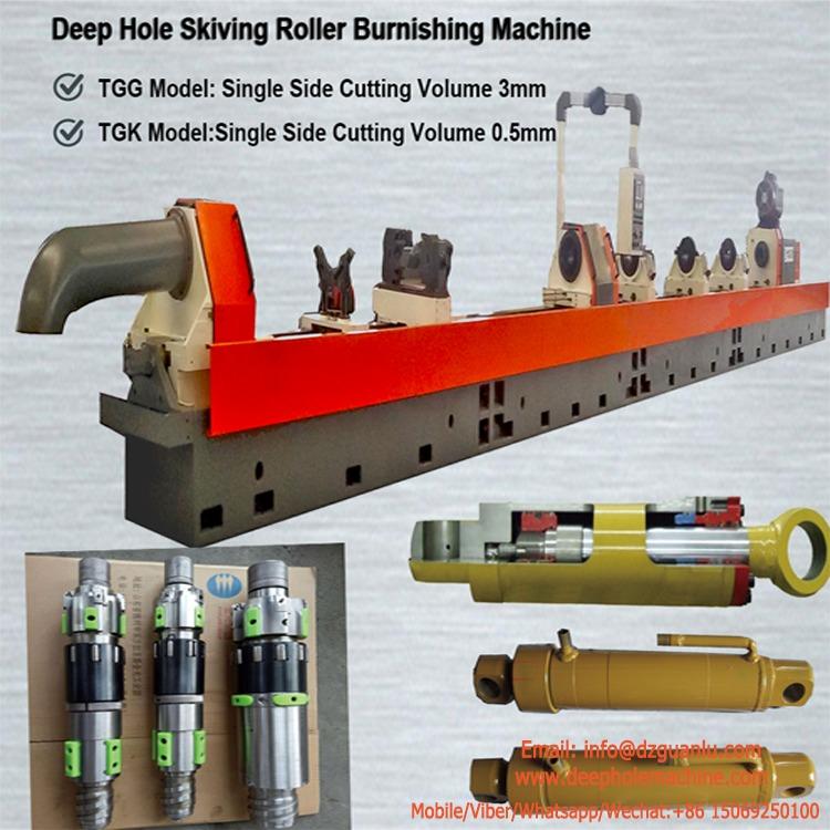 Deep hole roller scraping machine