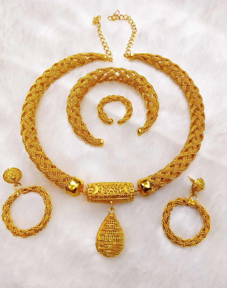2 Gram Gold Necklace full Set