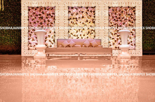 Floral Wedding Fiber Panel Backdrops