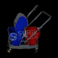 Double Mop Wringer Trolley