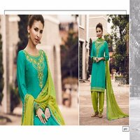HEAVY EMBROIDERED COTTON PATIYALA SALWAR KAMEEZ ONLINE