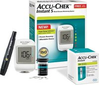 Accu-Chek Instant Glucometer with 10 strip free