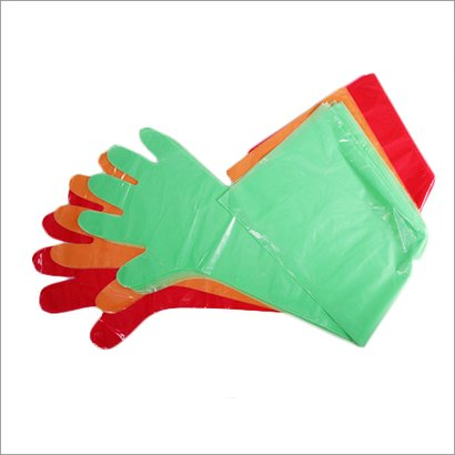 Transparent Or Any Color Veterinary Plastic Hand Gloves