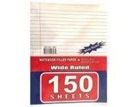 150 Sheets Wide Ruled Filler Paper