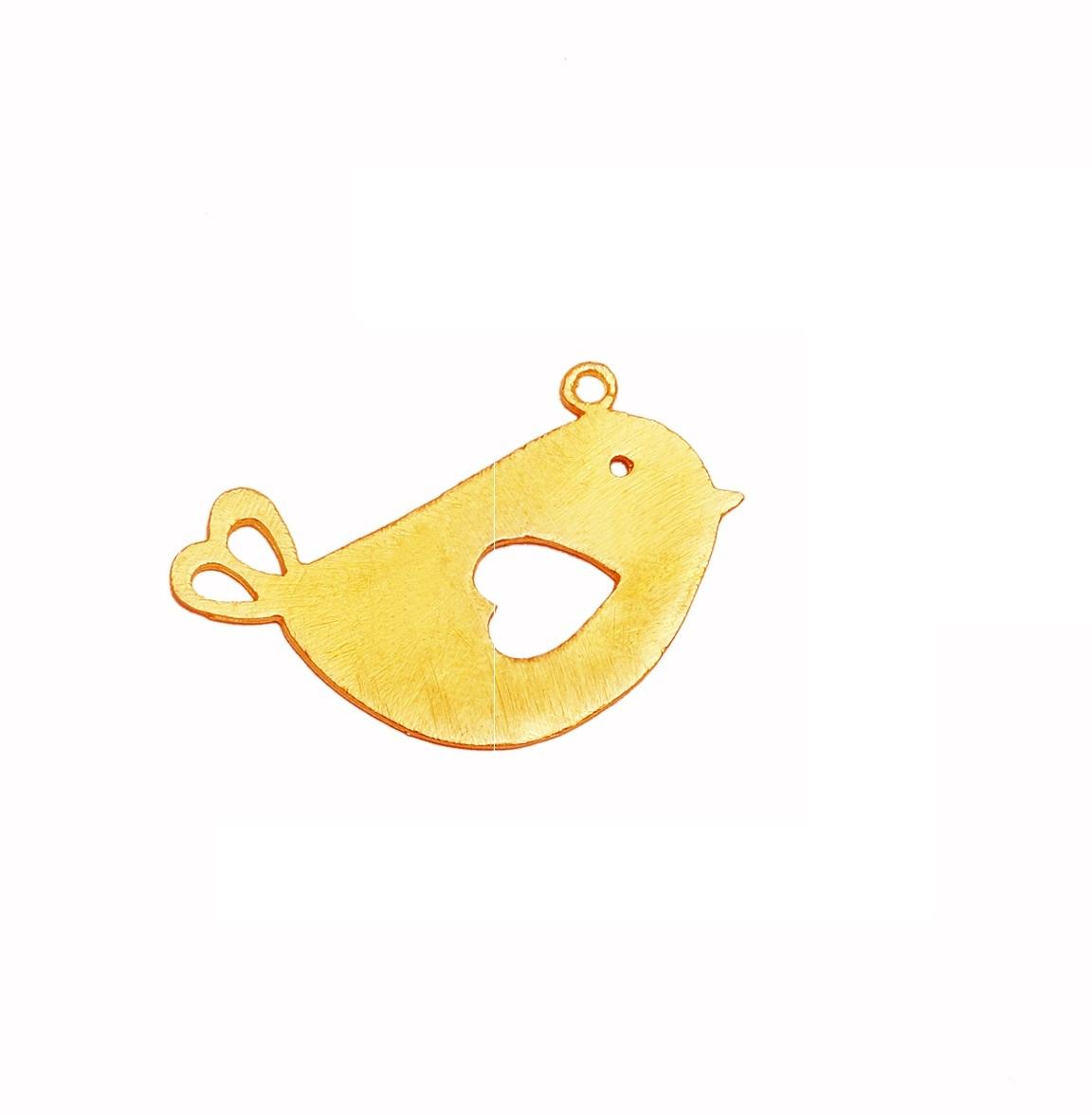 Handmade Gold Plated Temple Bell Metal Charm Pendant - Fancy Bell Shape Pendant