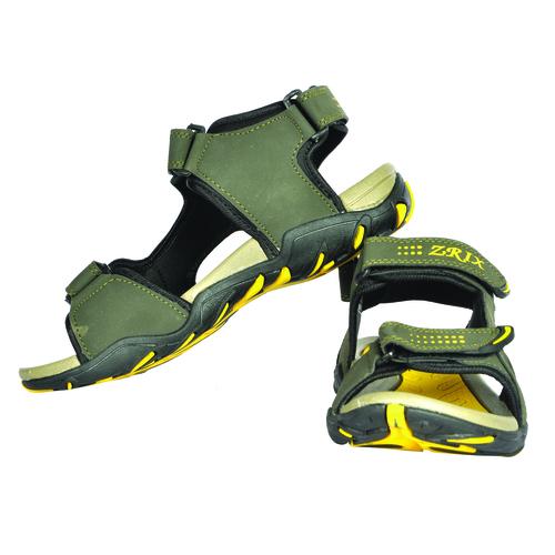 Mens Mehndi & Yellow sandal