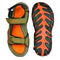 Mens Mouse & Orange Sandals