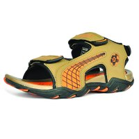 Mens Mouse & Yellow Sandals