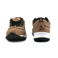 Tan Black Kids Sports Shoes