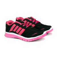 Ladies Black Pink Sports Shoes