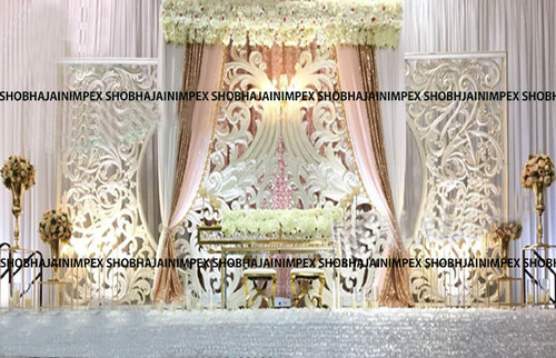 White Theme Wedding Fiber Panel Backdrops